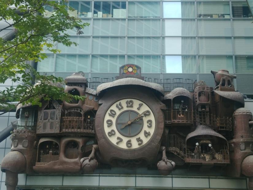 Ghibli clock animation